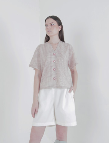 White Liena Shorts