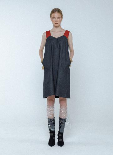 Grey Lucy Denim Dress