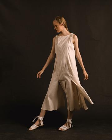 Créme Havika Rah Rah Long Dress