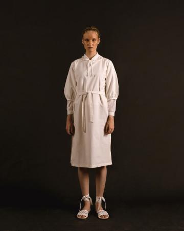 White Lana Bell Sleeves Resort Dress