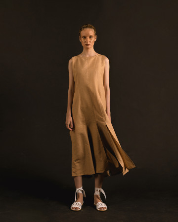 Gold Havika Rah Rah Long Dress