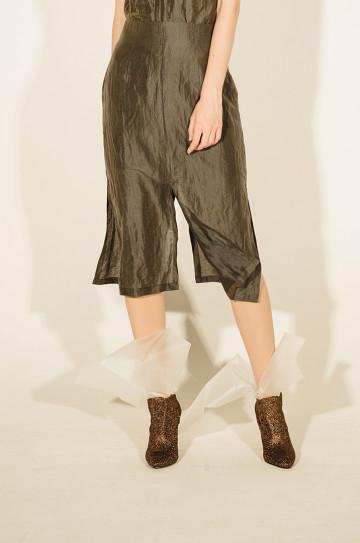 Gray Olina Rah Rah Midi Skirt