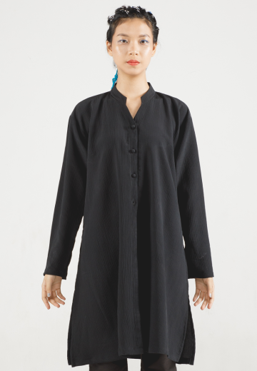 Black Alana Long Loose Shirt
