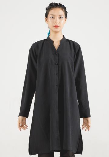 Black Alana Long Loose Shirt