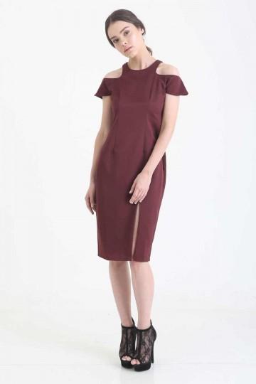 Anastasia Dress Maroon