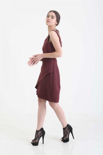 Miranda Dress Maroon