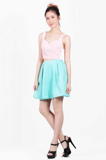 Green Mini Skirt