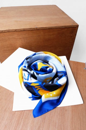 Abstrack Blue & Yellow Scarf