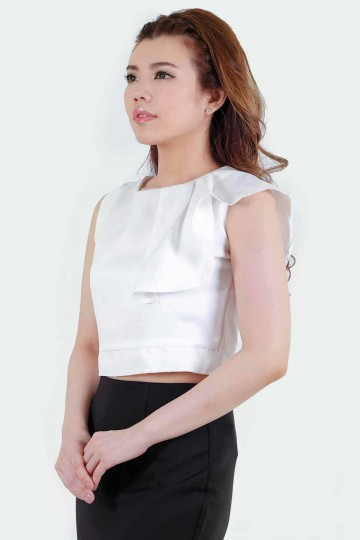 Melly Crop Top White