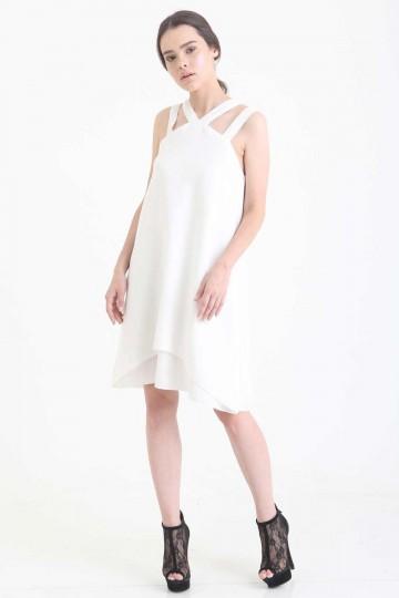 Salvatore Dress White