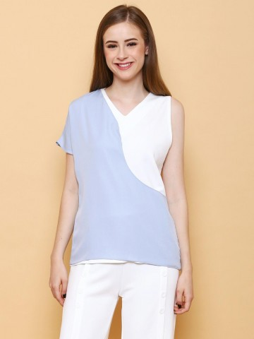 Lisa Top Blue - White