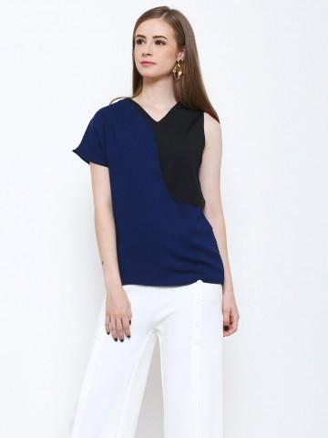 Lisa Top Blue - Black
