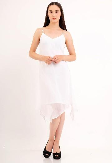 Self - Tie Maxi Dress White