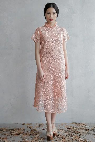 Iris Peach Dress