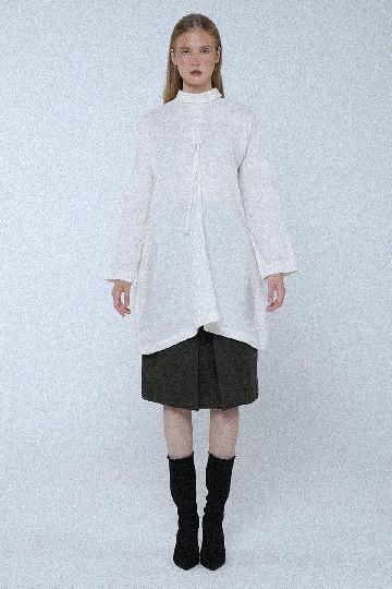 Broken White Jeanette Drawstring Long Shirt