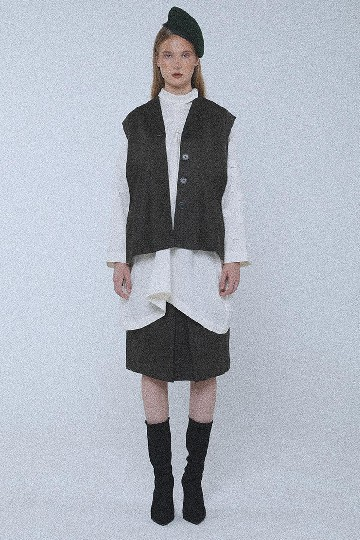 Dark Olive Hunter Tuxedo Vest