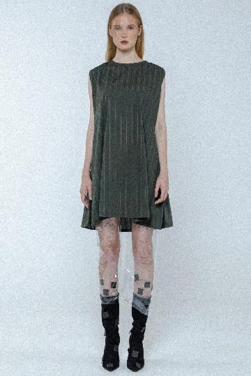 Olive Sienna Downstripes Midi Dress