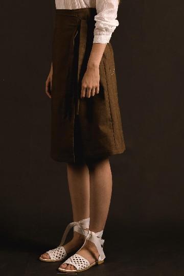 Brown Malia Wrap Skirt