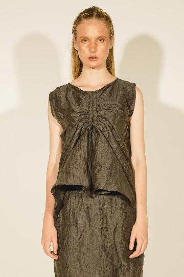 Grey Kiana Drawstring Sleeveless Top