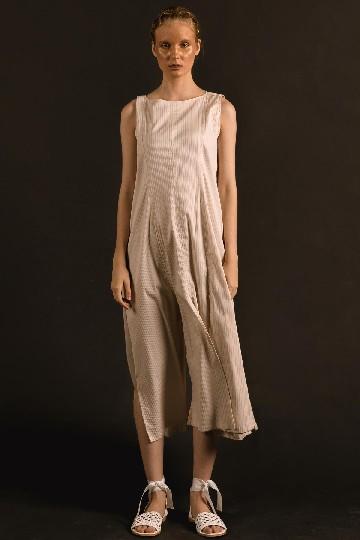 Crème Havika Rah Rah Long Dress
