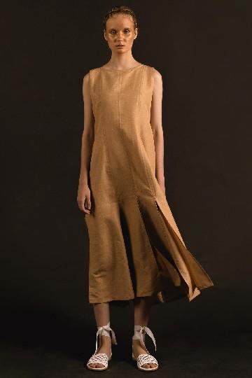 Gold Havika Rah Rah Long Dress