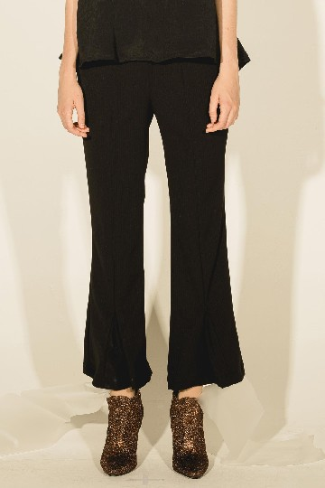 Black Alana Palazzo Pleated Pants