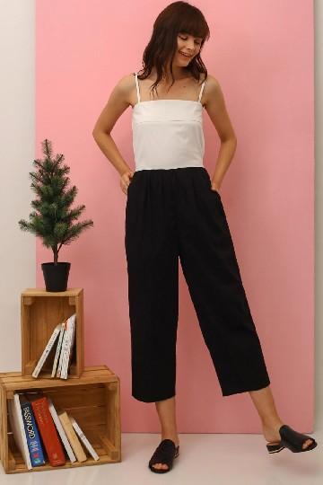 Twotone Crop Jumpsuit