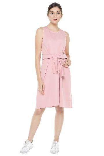 Marie Knot Dress Pink