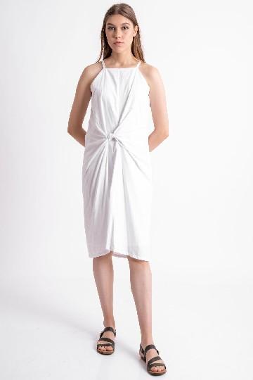 Inna Knot Dress White