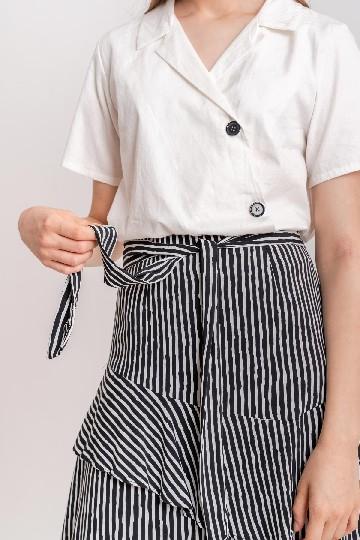 Aria Button Top White