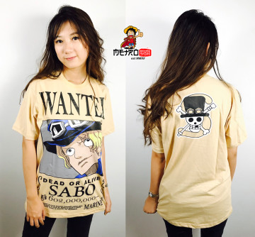 KAOS SABO WANTED CREAM image