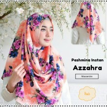 180902190855_Pashmina Instan Azzahra Peach Desain Baru Masserizie