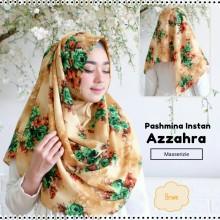 180902190855_Pashmina instan Azzahra Brown desain baru Masserizie
