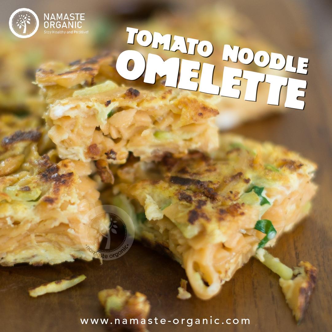 Tomato Noodle Omelette image