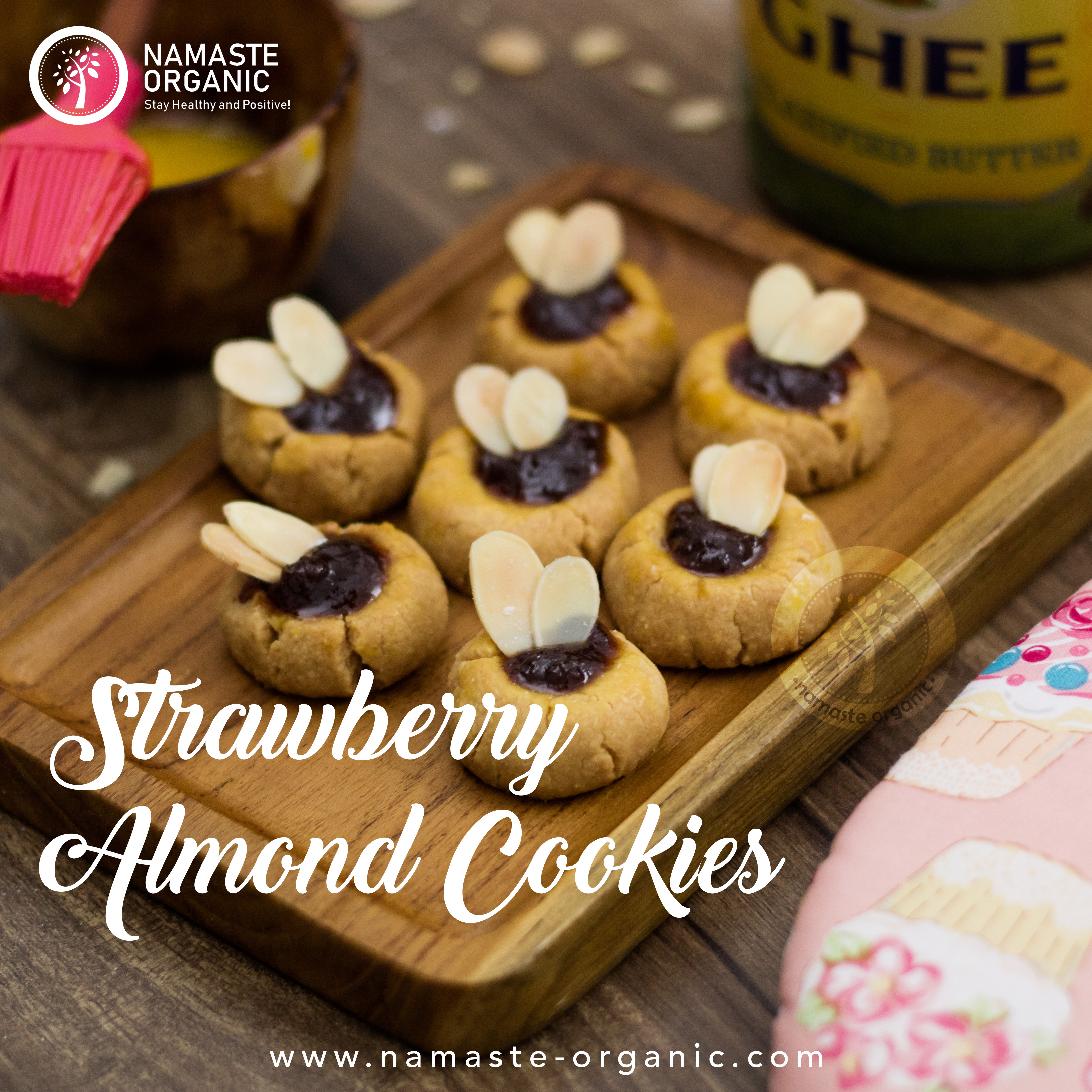 Strawberry Almond Cookies image