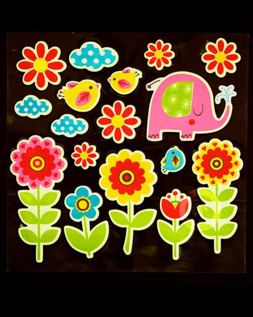 wall sticker - glow in the dark flowers