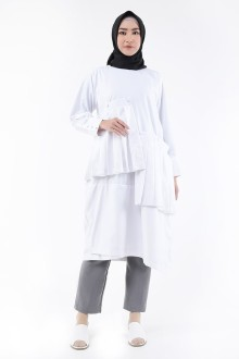 Hiza Dress White