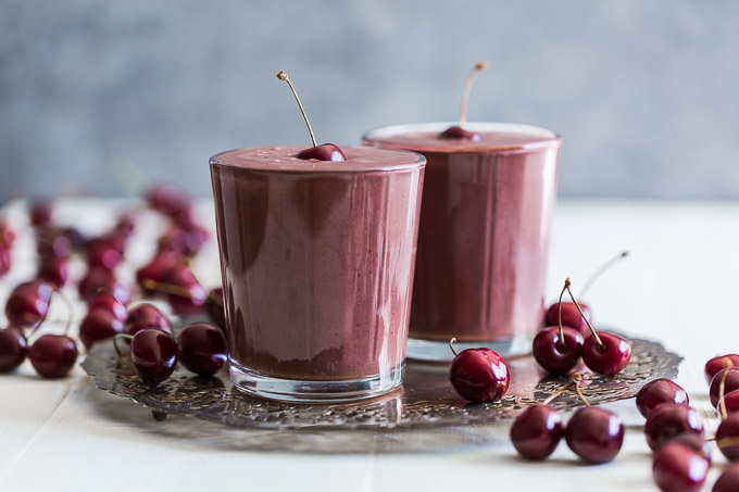 GLOWING CHOCOLATE CHERRY SMOOTHIE image