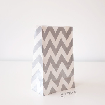 Favor Bag   Chevron  Silver image