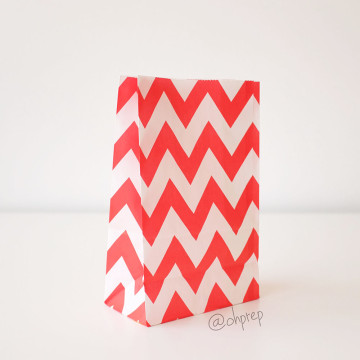 Favor Bag   Chevron  Red image