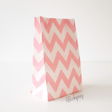 Favor Bag   Chevron  Light Pink image