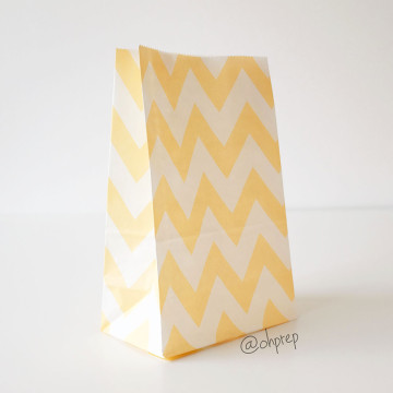 Favor Bag   Chevron  Cream image
