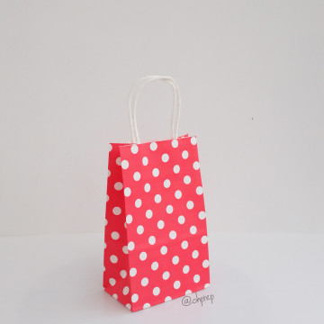 Paper Bag S Polkadot Red image