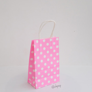 Paper Bag S Polkadot Pink image