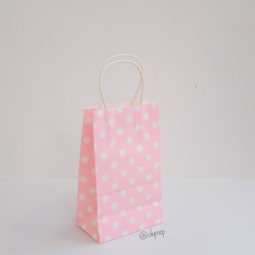 Paper Bag S Polkadot Light Pink image
