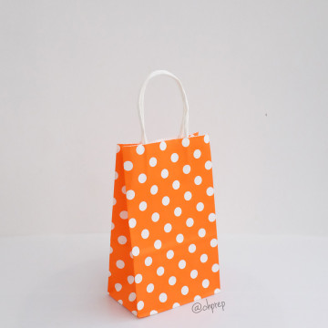 Paper Bag S Polkadot Light Orange image