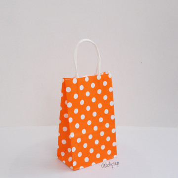 Paper Bag S Polkadot Bright Orange image