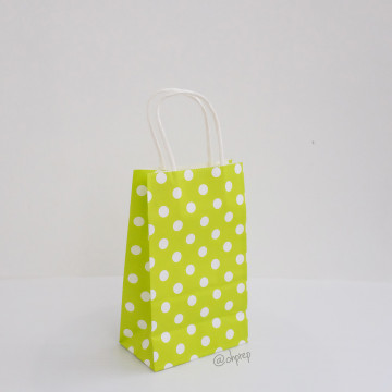 Paper Bag S Polkadot Lime Green image
