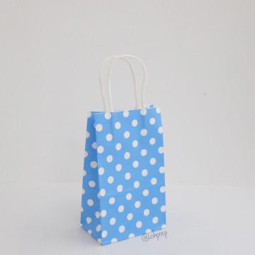 Paper Bag S Polkadot Blue image