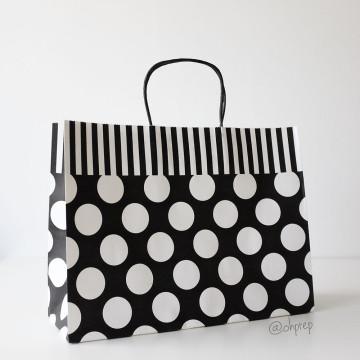 Paper Bag L Polkadot Black image